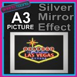 LAS VEGAS SIGN ALUMINIUM PRINTED PICTURE SPECIAL EFFECT PRINT NOT CANVAS